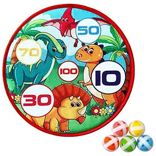 WWWL Juego de dianas para lanzar dardos con 5 bolas adhesivas, juegos de interior para niños, Navidad, fiestas, regalos, suministros StyleC