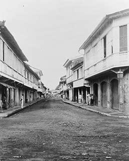 1899 photo Calle Real street of Cavite, P.I. . Street scene, Cavite, Philippi f4