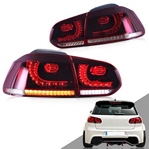 VLAND Rot LED Rückleuchten für 2008-2013 Golf 6 MK6 VI GTI GTD TSI R Rückleuchte mit dynamisch blinker LHD UK Inventar