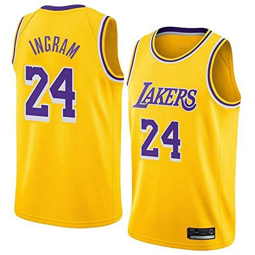 June Bart Camiseta de Baloncesto para Hombre,Mujeres Jersey Hombre - Los Angeles Lakers Bryant # 24 Jerseys Transpirable Bordado Baloncesto Swingman Jersey