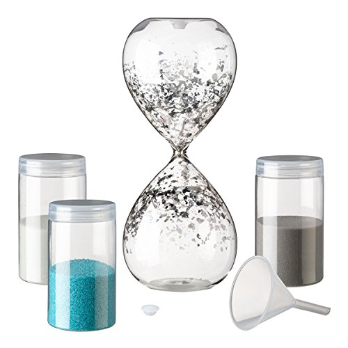 "Lillian Rose US120 Unity Sand Hour Glass, 8.25"" x 3.25"", Clear"