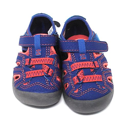 Infant and Toddler Shoes and Sandals, Assorted Colors and Sizes (4, Blue-Orange Sandals)