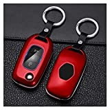 FEICHUAN Fibra DE Carbono ABS 3 Botones Cuchilla DE Cable Cubierta Cubierta para Lada Vesta ACENDA Ajuste para Renault Megane Clio CAPTUR KANGOO KANGOO Campo (Color Name : Red Set)