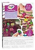 CRAYOLA- Creations Set Braccialetti Neon&Charms, per Creare Bracciale, Colori Fluo, 04-0468