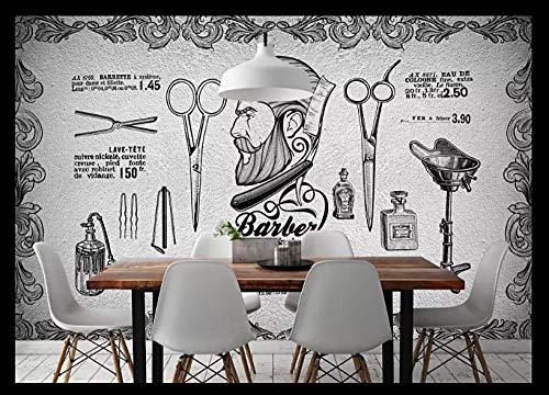 Diy Wandbilder Für Wohnzimmer 3D Seide Premium Foto Tapete Hd-Druck Poster Bild Design Moderne Wandkunst Wanddekoration Friseursalon-250Cmx175Cm
