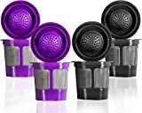 Reusable Filter Cups For Keurig 2.0 & 1.0 Brewers Universal Fit For Easy To Use Refillable Single Cup Coffee Filters...