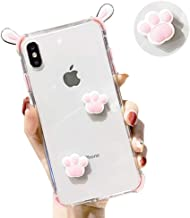 IPLUS iPhone 8 Plus / 7 Plus 3D Clear Case,Cute Cartoon Bunny Rabbit Ears,Funny Cat Claw on Body,Soft TPU Bumper Protective Shell Cover for Girls Women (Rabbit-Pink, iPhone 8 Plus / 7 Plus)