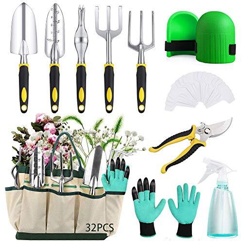 JINGYOUDAMAI 32PCS Kit de Herramientas para Jardinería,Herramientas de Jardín,Kit de Jardinería de...