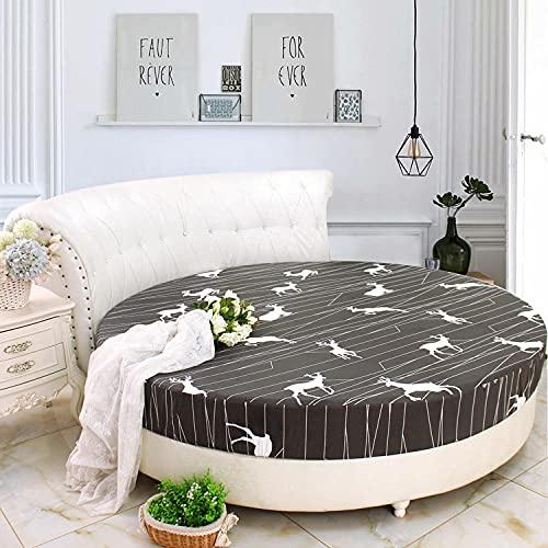 CYYyang Matratzenschoner | Matratzenauflage Kopfkissenschoner in Verschiedenen GrößenRundes Bett aus Baumwolle, rutschfest, 37_1,8 m