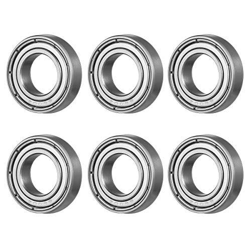 Ueetek 6800ZZ Kugellager mit tiefer Nut, 10 Stück, 2 Metallschilder seitlich, 10 x 19 x 5 mm, mechanische Teile, Zubehör