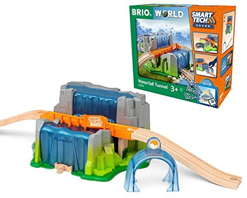 BRIO World 33978 Smart Tech Sound Wasserfall-Tunnel - Interaktive Ergänzung für die BRIO Holzeisenbahn - Empfohlen ab 3 Jahren