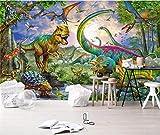 fototapete 3d effekt wohnzimmer vlies Fototapete Tapete moderne dekoration wanddeko Wandbilder 200x140cm Horror Dinosaurier Landschaft Schlafzimmer