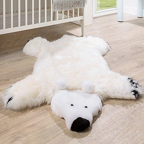 Paco Home Australisches Lammfell Naturfell Spielteppich Kinderzimmer Dekofell Eisbär Weiß,...