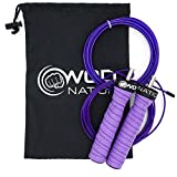 WOD Nation Attack Speed Jump Rope : Adjustable Jumping Ropes : Unique Two Cable Skipping Workout...