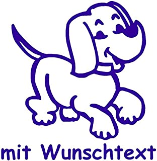 my baby shop Hundeaufkleber fürs Auto   mit Wunschtext   Motiv H1 (16 cm)