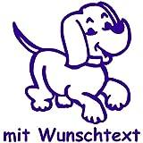 my-baby-shop Hundeaufkleber fürs Auto - mit Wunschtext - Motiv H1 (16 cm)