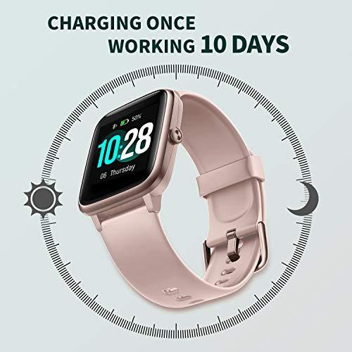 Vigorun Montre Connectée Smartwatch Homme Femme 10 Jours Autonomie Bracelet Connecté Etanche IP68...