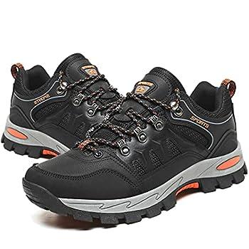 Chaussures de Randonnée Homme Femme Montantes Basses Bottes de Randonnée Respirant Antidérapants Trekking Chaussure de Marche Noir Taille 44 EU