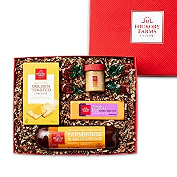 Hickory Farms Sausage & Cheese Small Gift Box   Gourmet Food Gift Basket Great for Snacking Small Gatherings Birthday Family Congratulations Gifts Thinking of You Retirement Sympathy Business and Corporate Gifts
