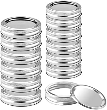 12-Sets Kooktool Stainless Steel Canning Lids & Bands