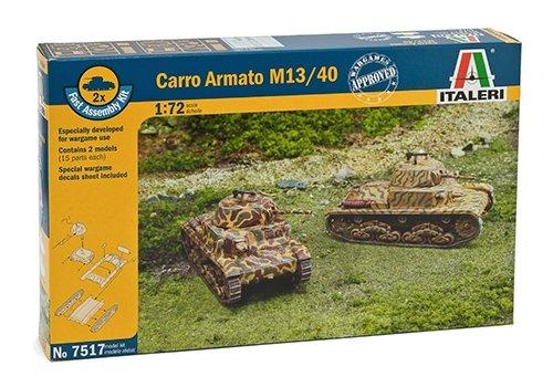 Italeri 510007517 - 1:72 Panzer M13/40, 2 Stück