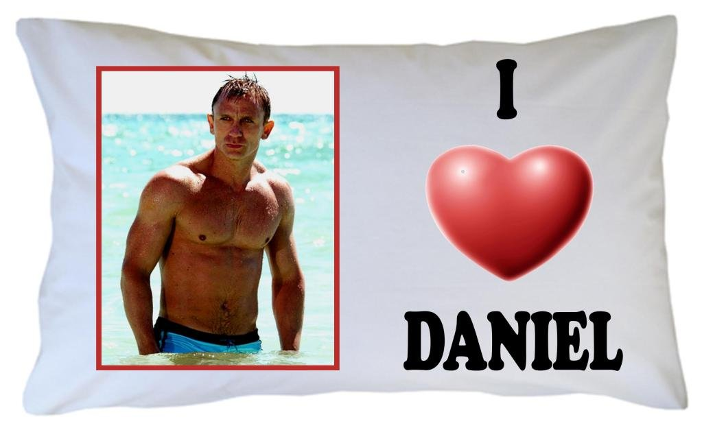 DANIEL CRAIG PILLOWCASE, JAMES BOND
