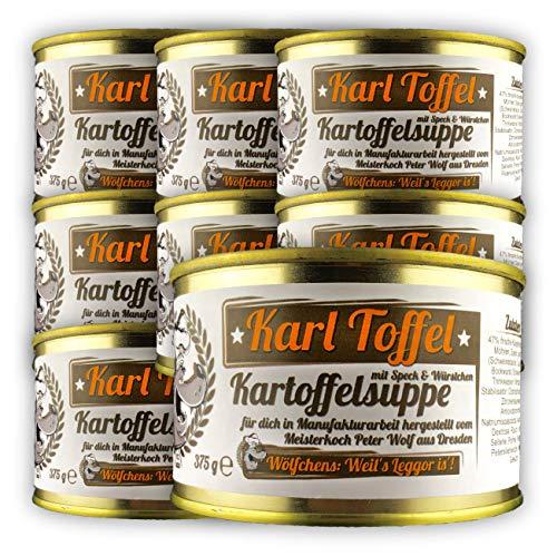 Wölfchens Gourmet Karl Toffel Kartoffelsuppe Vorratsset in der Dose (8 x 375 g)
