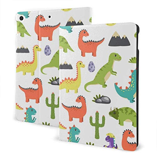 Dessert Shake Case for New IPad 7th Generation 10.2 Inch 2019 Multi-Angle Viewing Folio Smart Stand Cover Auto Wake/Sleep for IPad 10.2' Tablet-Different Cute Dino-One Size