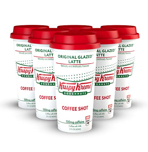 FORTO Krispy Kreme Coffe Shots - Original Glazed Donut, Ready-to-Drink on the go, High Energy Cold Brew Coffee- Fast Coffee Energy Boost, 2 Fl Oz, Pack of 6