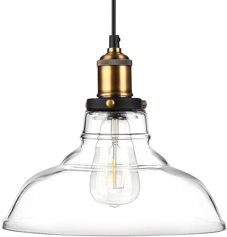 Newhouse Lighting GHPENKIT Rustic Vintage Edison Style 1-Light Pendant Glass Hanging Light Kit