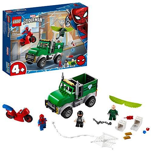 LEGO Super Heroes - Avvoltoio e la Rapina del Camion, con 3 Minifigures LEGO Spider-Man, Vulture e il Conducente, Set di Costruzioni per Bambini 4+ Anni, 76147