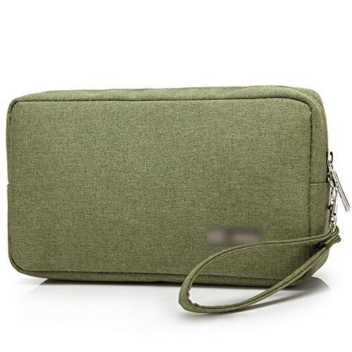 HoneyJuan Professionelle Laptop-Tasche Aktentasche wasserdichte Aufbewahrungstasche Mini-Kosmetik-Beutel Bussiness Tablet Tragetasche (Color : Green)