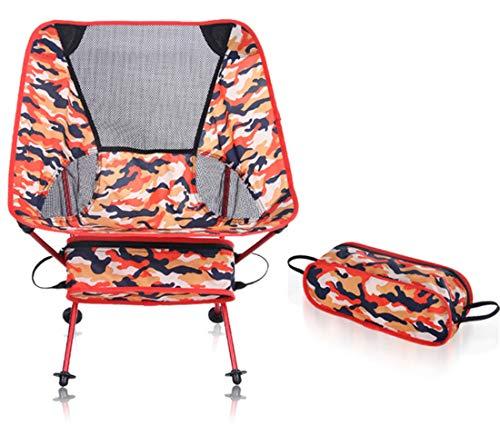 CTTPEG Silla de camping portátil y ligera, para actividades al aire libre, camping, barbacoas, playa, mochileros, etc. (roja)