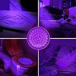 Kobra UV Black Light Flashlight 100 LED #1 Best UV Light and Blacklight for Home & Hotel Inspection, Pet Urine & Stains - Ultra Intensity 18W 385-395nm LEDs Spot Counterfeit Money, Leaks, Scorpions! 15