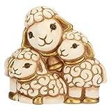 THUN - Statuina Presepe Gruppo di Pecore - Decorazioni Natale Casa - Linea Presepe Classico - Ceramica - 6,1 x 3,3 x 5,5 h cm