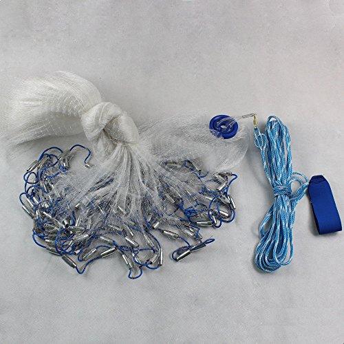 Xian 22Ft 6.6M Hand Überwurf Fishing Net Spin Bait Sinker Kleiner Mesh Equipment Hand gegossen aus Netz Bindfäden einfach Überwurf Angeln Net Spin Netzwerk Köder + Sinker