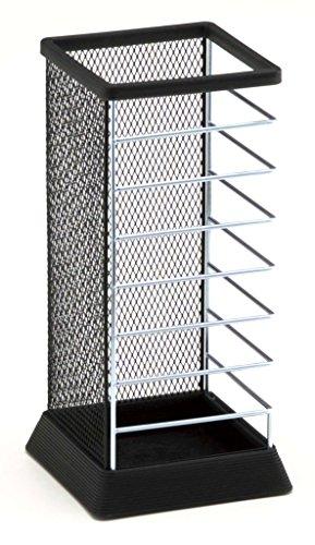 Stylish Square Umbrella Stand, Free Standing Storage Rack, Cane Walking Sticks Holder, Black, 18-inch