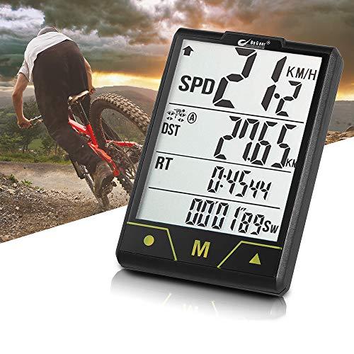 Thole VelocíMetro Bicicleta Multifuncional para Computadora RetroiluminacióN InaláMbrica Impermeable Ciclismo CuentakilóMetros con...