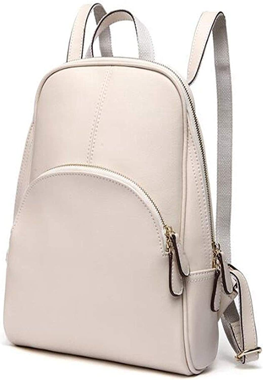 Frauen Rucksack Echtes Leder, Rucksack, Handtasche, Rucksack, Frau, 11,4    4,7  12,5 (Zoll) Outdoor-Tagesrucksack (Farbe   Weiß) B07P5MVKMJ | Ausgezeichneter Wert  6d151c