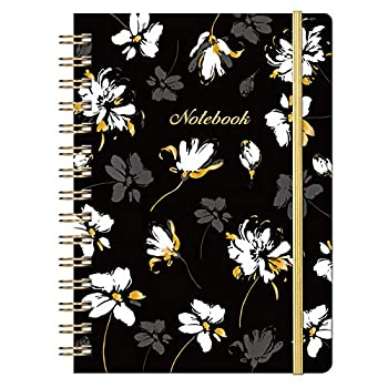 Ruled Notebook/Journal - Lined Journal with Premium Thick Paper 8.5  X 6.4  College Ruled Spiral Notebook/Journal Banded with Exquisite Inner Pocket Waterproof Hardcover for School Office & Home