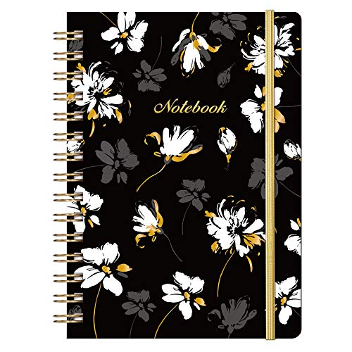 """Ruled Notebook/Journal - Lined Journal with Premium Thick Paper, 8.5"""" X 6.4"""", College Ruled Spiral Notebook/Journal, Banded with Exquisite Inner Pocket, Waterproof Hardcover for School, Office & Home"""