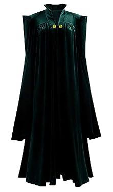 Skycos Womens Witch Halloween Robe Cosplay Costume Wizard Sorceress Cloak Fancy Long Dress