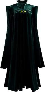 Womens Witch Halloween Robe Cosplay Costume Wizard Sorceress Cloak Fancy Long Dress