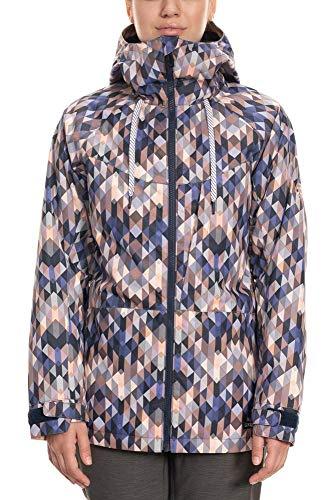 686 Women's Athena Insulated Jacket - Waterproof Ski/Snowboard Winter Coat, Washed Indigo Kldscp, X-Large
