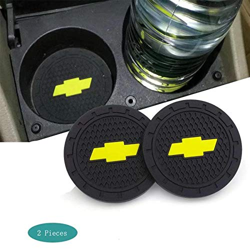 SHENGYAWAUTO Car Interior Accessories Cup Holder,Anti Slip Cup Mat Insert for Chevrole,Silverado,Corvette,Cruze,Malibu,Epica, Aveo,Sail,Captiva,Camaro,Volt All Models 2 Packs,2.75 inch