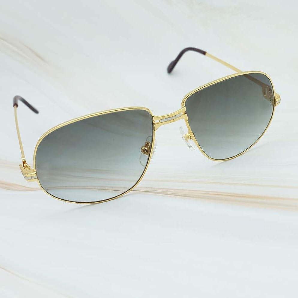 小道デュアル残酷メンズサングラスメタルメガネサングラスメンズオーバーサイズサングラス高品質