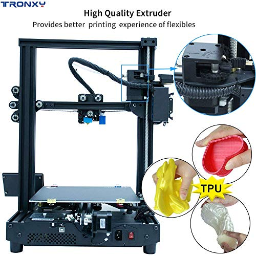 TRONXY New Upgraded Ultra Silent Motherboard + Titan Extruder3D Printer XY-2 Pro Black Fast Assembly Installation with Resume Printing Function for Beginner and Home User