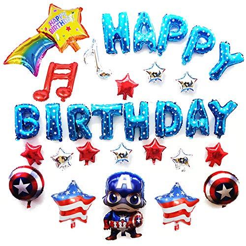 Globo de aluminio con diseño de superhéroe para decoración de fiesta de cumpleaños para 1er 2º 3º 4º 5º 6º 7º 8º 9º niño cumpleaños decoración Superhéroe