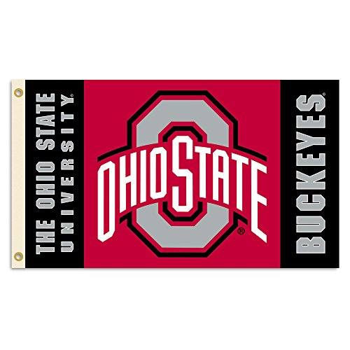 NCAA Ohio State Buckeyes 2-Sided 3 x 5-Feet Flag with Grommets, Team Color,
