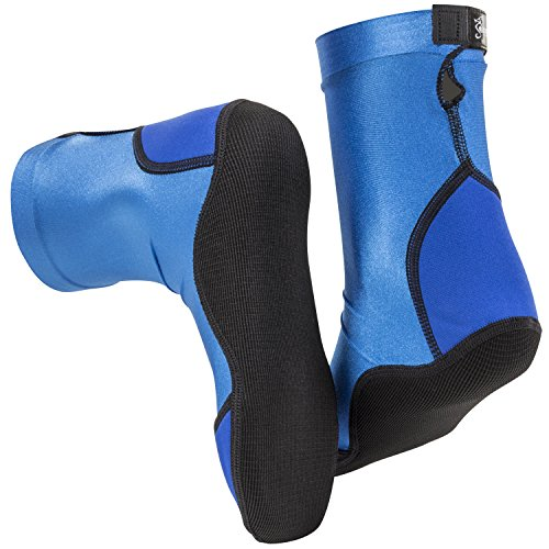 Seavenger High Cut Beach Socks with Grip Sole for Sand, Volleyball, Snorkeling, Diving, Wading (Blue, Small)